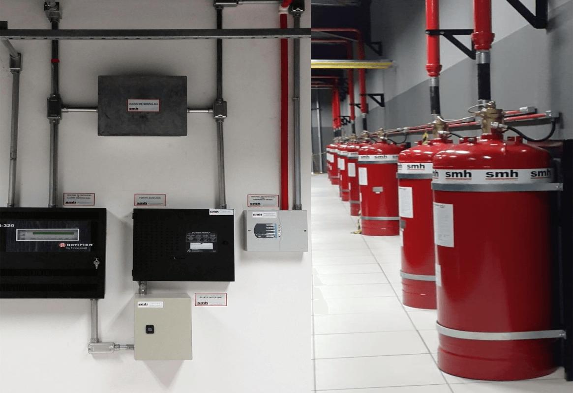sistemas fixos de supressão de incêndio por agentes limpos